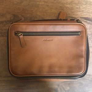 Coach leather travel case/toiletry case